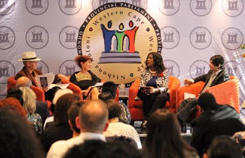 Prof Thuli Madonsela Charissa BloombergFaizal Sayed  Handley Tituss Integrity Forum